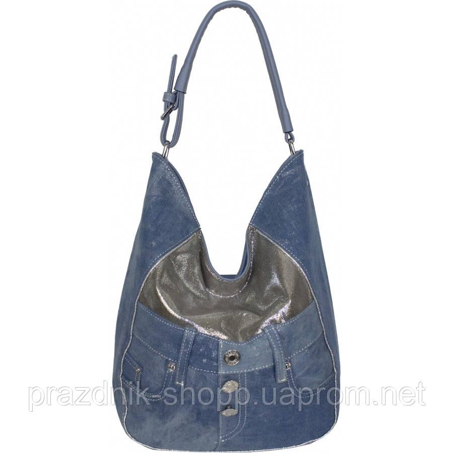 Сумка женская №87220 джинс Голубой