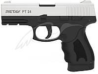 Пистолет стартовый Retay PT24. Цвет - chrome., фото 1