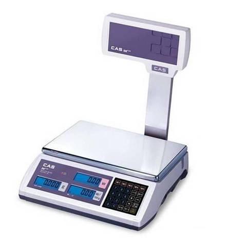 Весы торговые CAS-ER-Plus EU RS232 (6 кг), фото 2