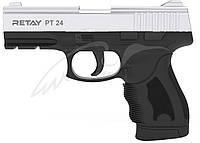 Пистолет стартовый Retay PT24. Цвет - nickel., фото 1
