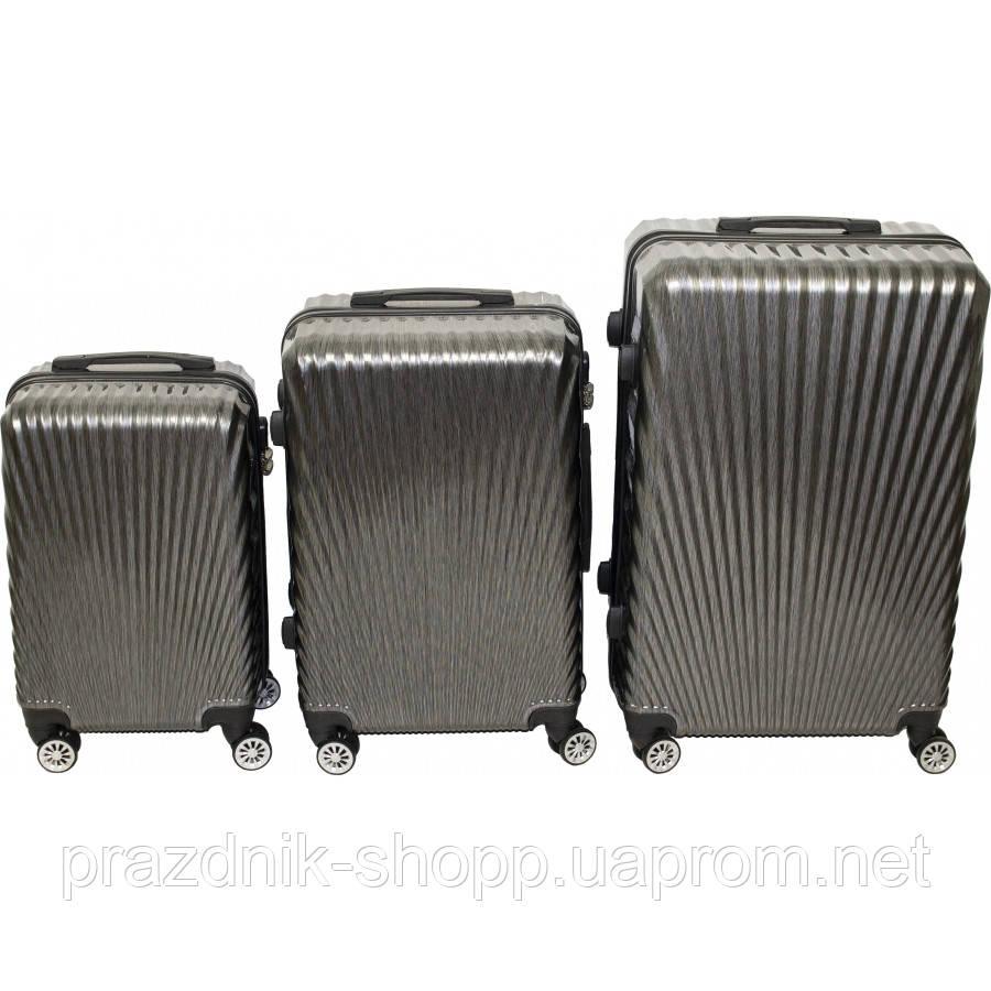 Комплект чемоданов.  Тёмно-серый