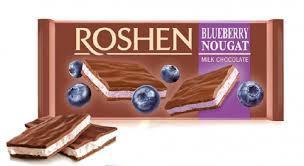 Шоколад с начинкой Черничная нуга Рошен