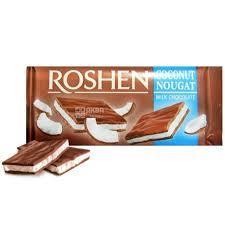 Шоколад с начинкой Кокососвая нуга Рошен