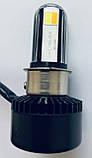 LED Мотолампа RTD (Мотоциклетная LED лампа головного света) 4400LM 40W, фото 4