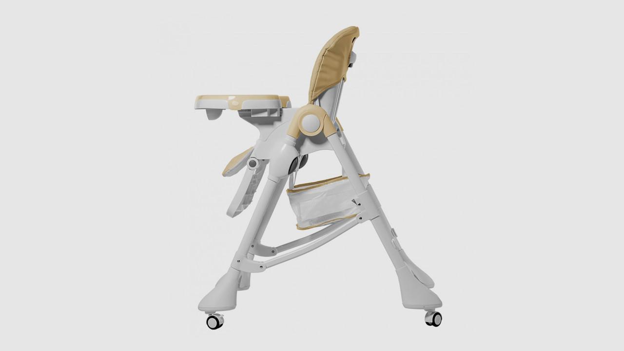 Стульчик для кормления CARELLO Caramel CRL-9501-3-CREAMBEIGE. 4 колеса. Бежевый