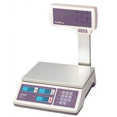 Весы торговые CAS-ER-JR-CBU RS232 (6 кг), фото 2