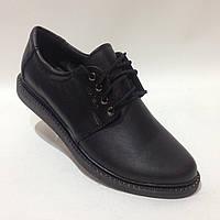 Женские кожаные туфли со шнурком красивые модные, фото 1