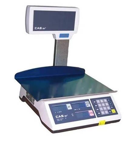 Весы торговые со стойкой CAS-ER-JR-CBU LT (15 кг), фото 2