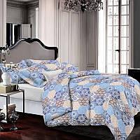 Комплект постельного белья Наша Швейка Ранфорс Светлый голубой ромб Двуспальный 180 х 215 см