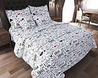 Комплект постельного белья Наша Швейка Бязь Белый Love Двуспальный 180 х 215 см