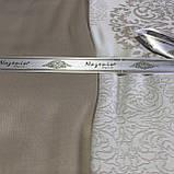 Комплект  постельного белья  жаккард ТМ Nazenin евро размер Lavida bej, фото 3