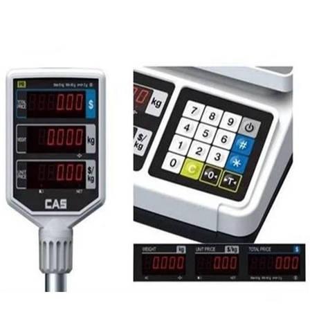 Ваги торгові CAS PR-15 P зі стійкою (30 кг), фото 2