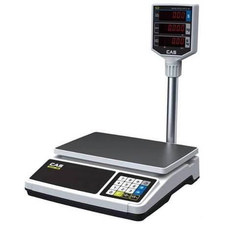 Весы торговые CAS PR-15 P со стойкой (30 кг), фото 2