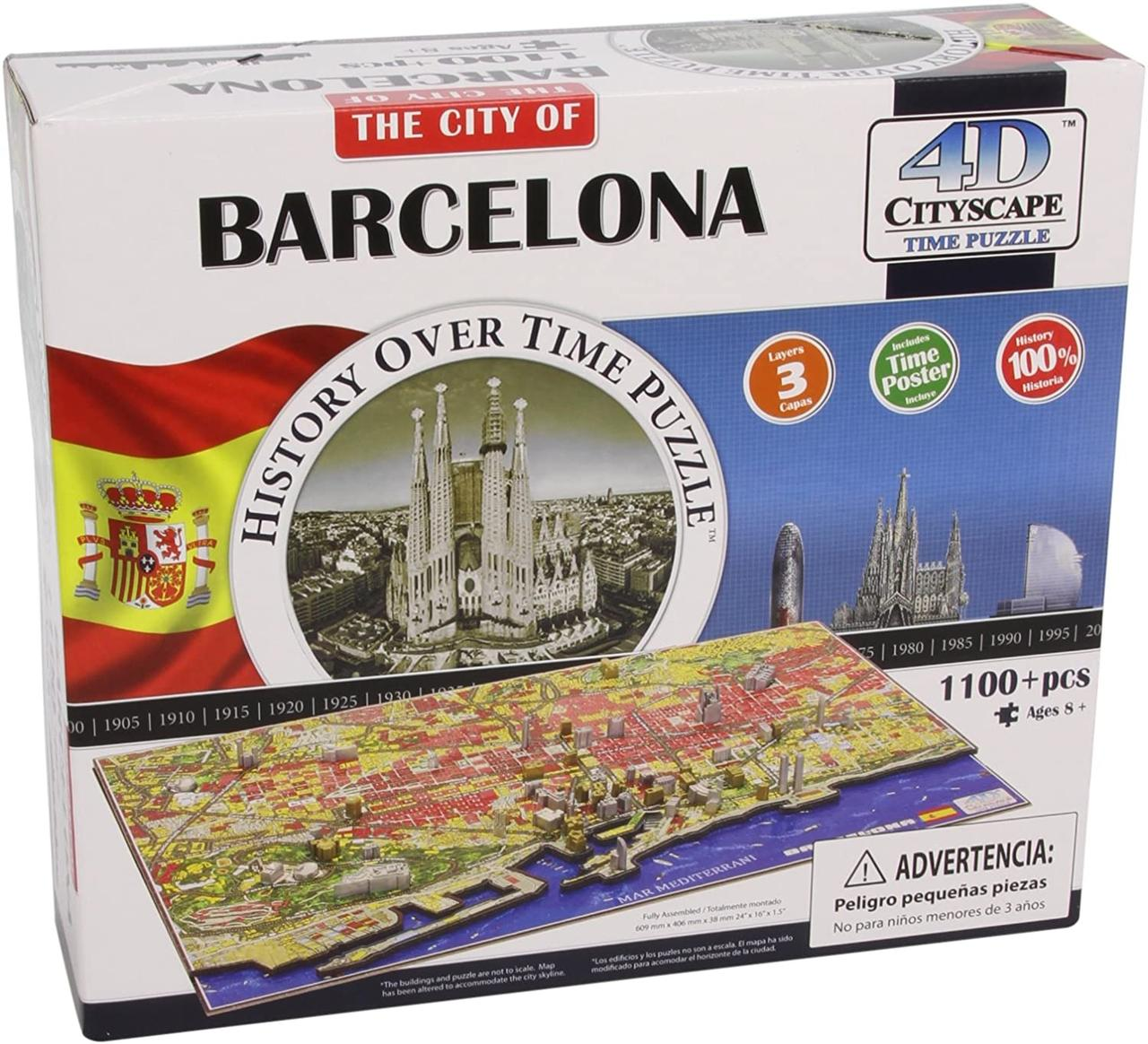 Пазл об'ємний 1200 4D Cityscape Барселона (Barselona)