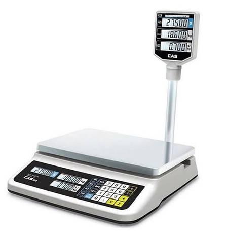 Весы торговые CAS PR-15 II P со стойкой (30 кг), фото 2