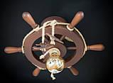 Люстра штурвал деревянная на 1 лампочку, фото 2