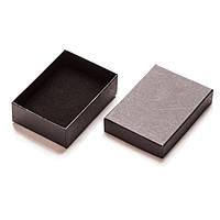 Коробочка подарочная Прямоугольная черная для ювелирных изделий украшений Бархат внутри 9x6x2.5 см