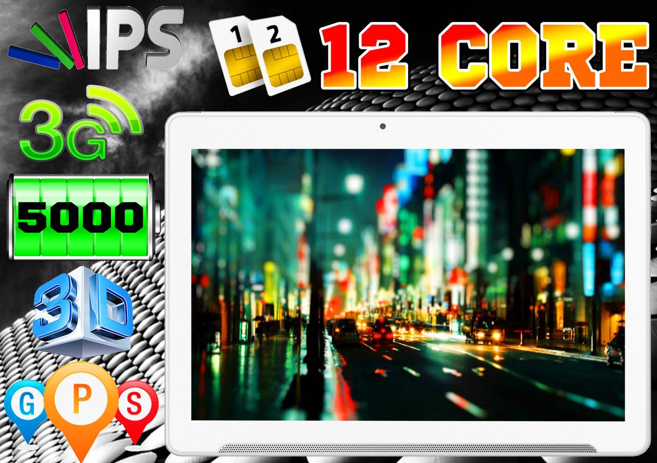 Железный планшет телефон Lenovo MAX, 12 ядер, 10'', 4Gb/64Gb, GPS, 2 sim, чехол + 2 года гарантия