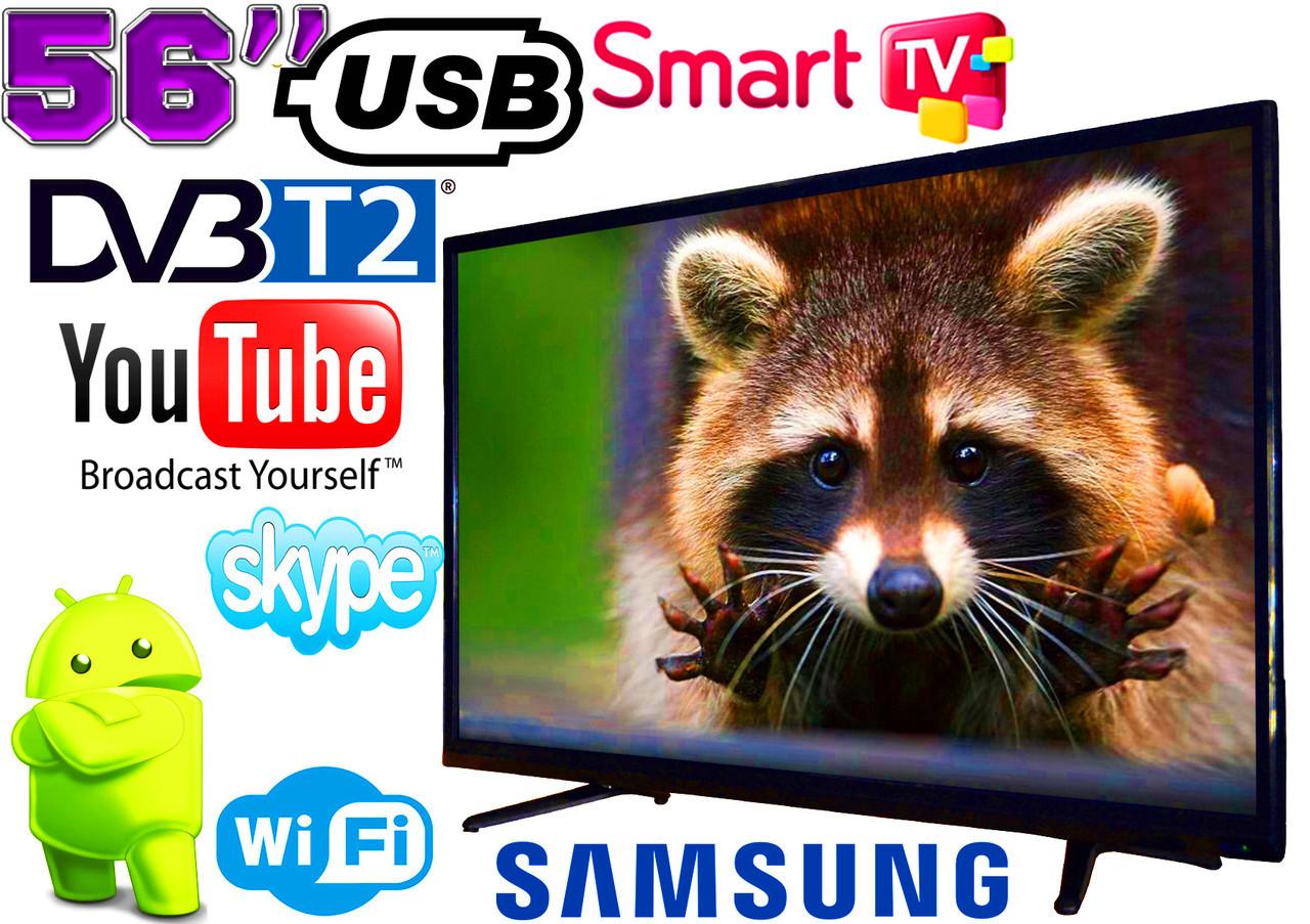 "Телевизор 56"" Samsung SmartTV LED! 4K UltraHD, IPTV, Android 7, T2, WIFI, USB"