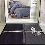 Комплект  постельного белья  жаккард ТМ Nazenin евро размер Lavida mor, фото 3