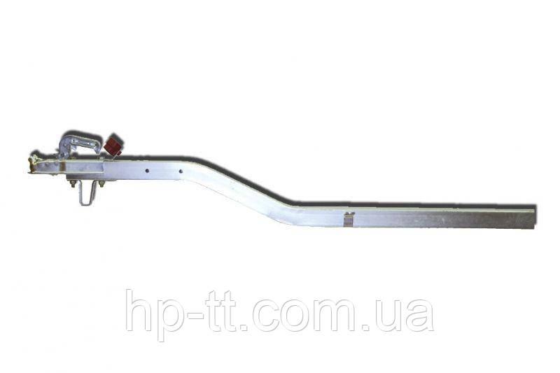 Дышло согнутое на 120 мм, 60*60 комплект (сцепное устройство с индикатором, держатель штекера, опорная скоба)