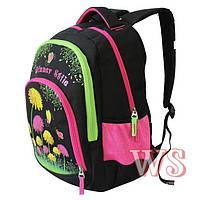 Рюкзаки для девочек Winner Stile 31*19*47 (чёрно розовый)