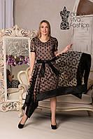 Коктейльное Платье большие размеры 46-54, фото 1