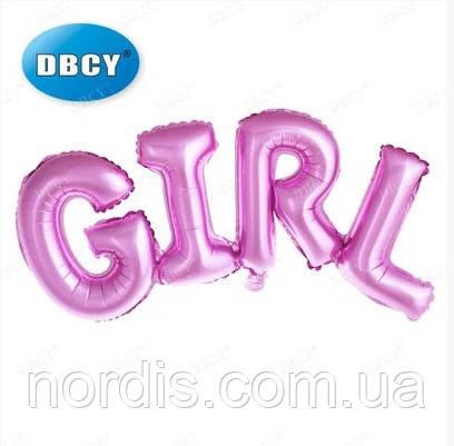 Фольгированная надпись Girl, 106х37 см.