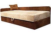 Диван Тахта Ліжко Альфа (Томас персик коричневий), фото 3
