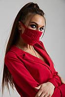 Дизайнерская защитная маска красная 6.4080