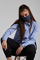 Дизайнерская защитная маска синяя 6.4079