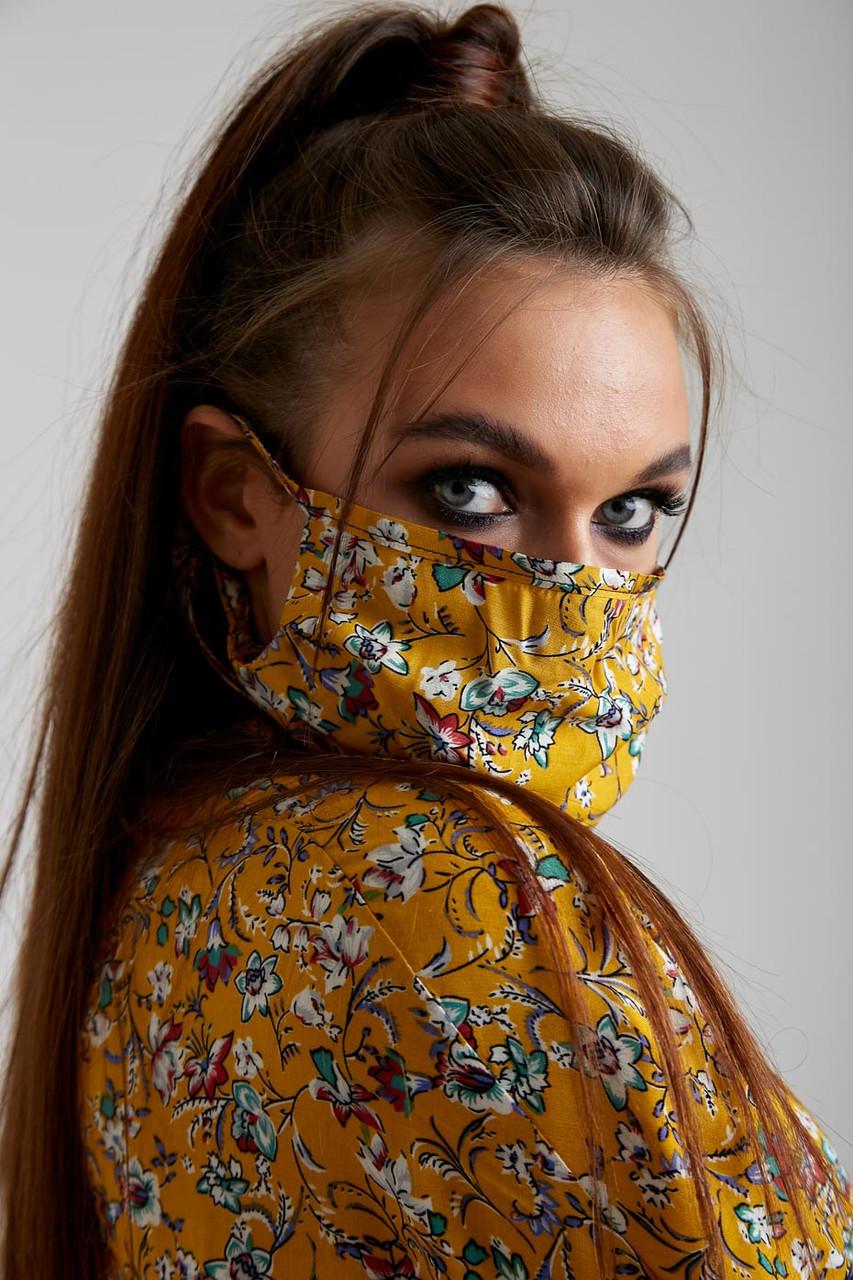 Дизайнерская защитная маска горчичного цвета 5.4060