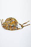 Дизайнерская защитная маска горчичного цвета 5.4060, фото 2