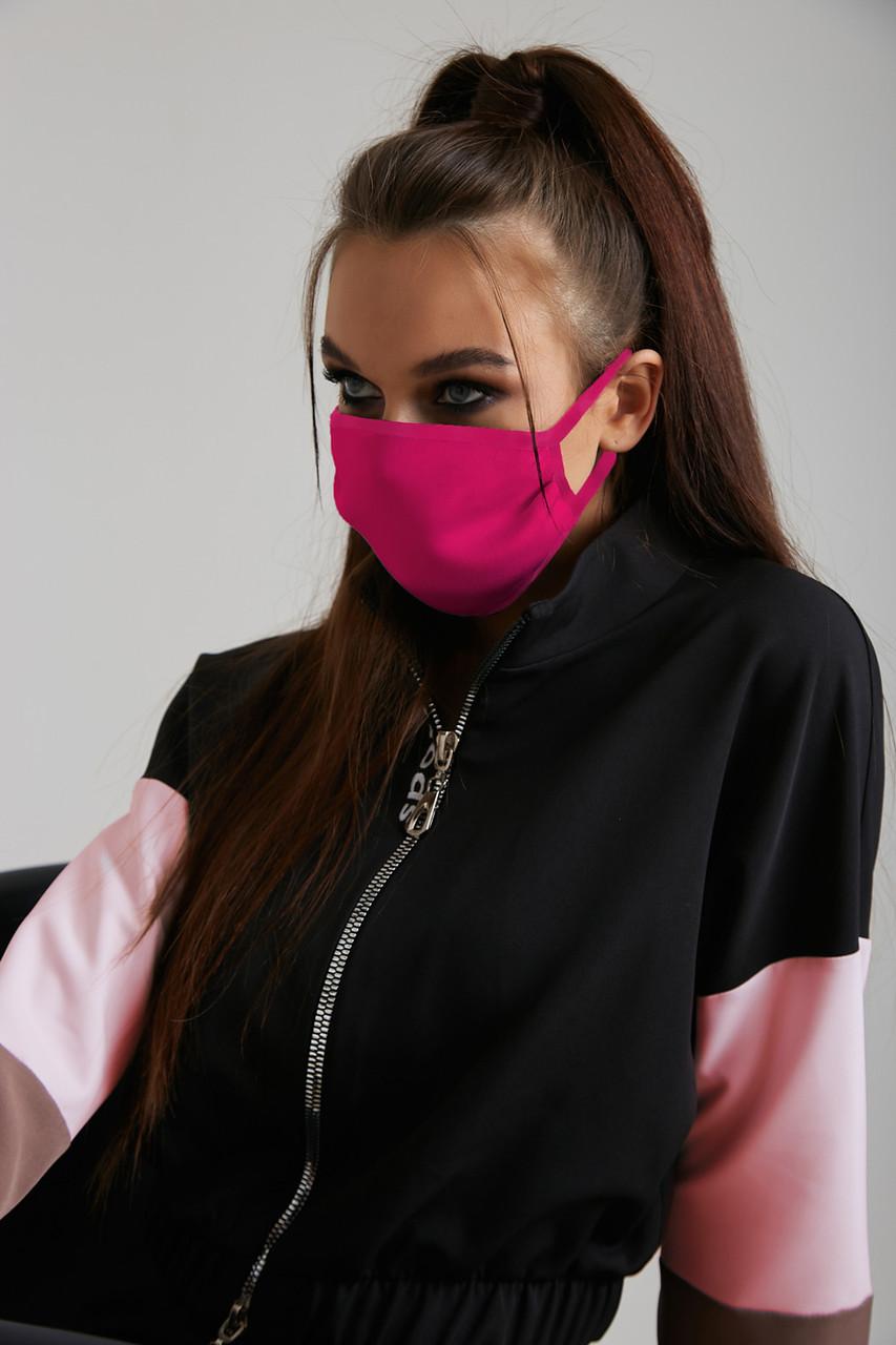 Дизайнерская защитная маска розовая 6.4056