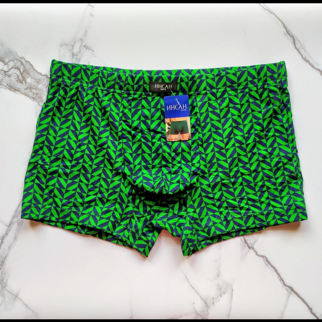 Трусы мужские боксеры ИНСАН ромб зелёный размер 54