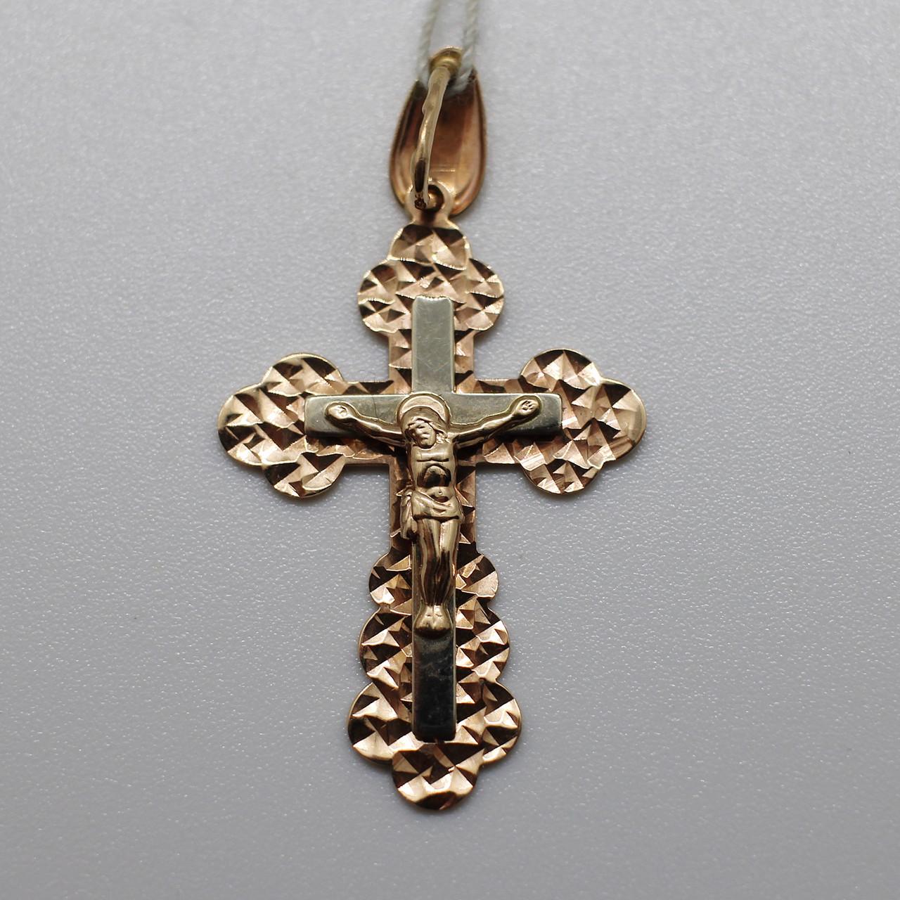 Золотая подвеска-крестик (золото 585)