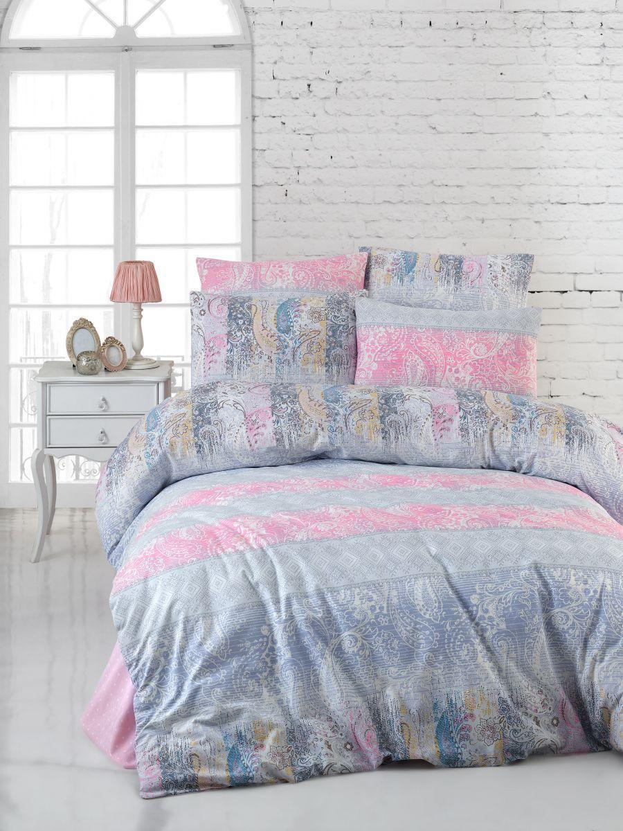 Двуспальный комплект постельного белья Бязь голд FRESCO 200*220 см. (100077_2.0LH)