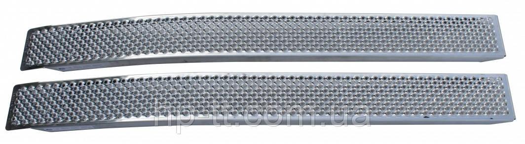 Рампа алюминиевая 2х200кг, 200 x 2000мм, загнутые, комплект 2 шт.