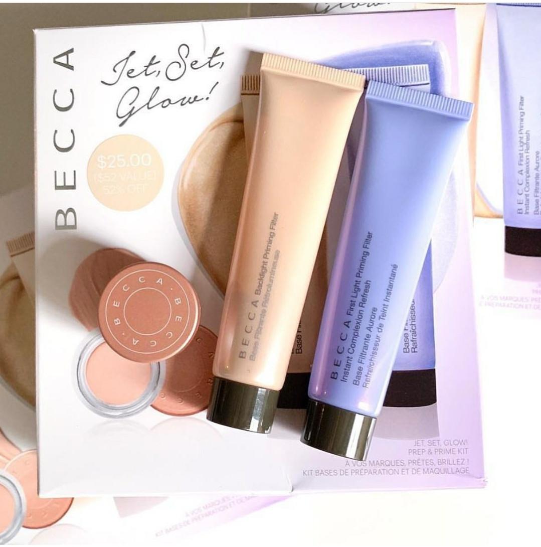 Набор для макияжа Becca Jet-Set Glow Prep & Prime Kit