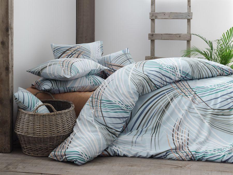 Двуспальный комплект постельного белья Бязь голд INTENSE голубой 200*220 см. (57475-01_2.0LH)