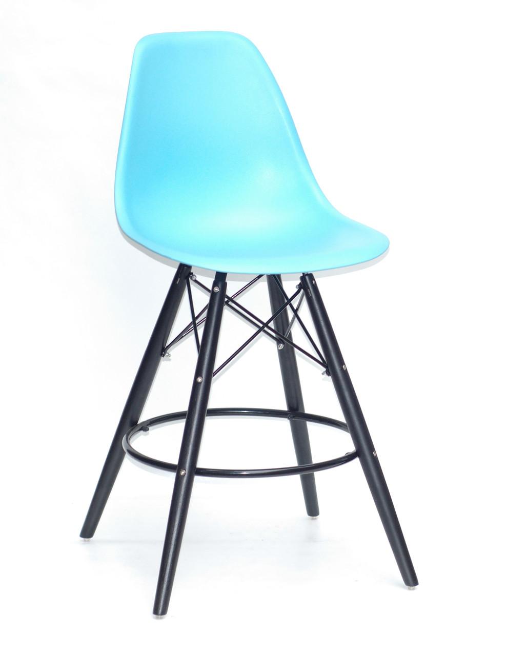 Полубарный стілець Nik BK Eames, блакитний 52