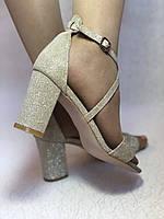 Высокое качество! Женские босоножки на среднем каблуке,с ремешком на щиколотке.35, 36,38,40.Vellena, фото 2