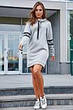 Удлиненная теплая толстовка-платье СК-247, фото 3