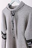 Удлиненная теплая толстовка-платье СК-247, фото 4