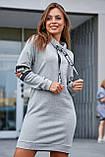 Удлиненная теплая толстовка-платье СК-247, фото 5