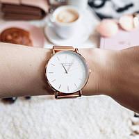 Модные женские часы Rosefield РОЗОВО -ЗОЛОТОЙ