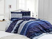Двуспальный комплект постельного белья Бязь голд NIGHT BLUE 200*220 см. (8990_2.0LH)