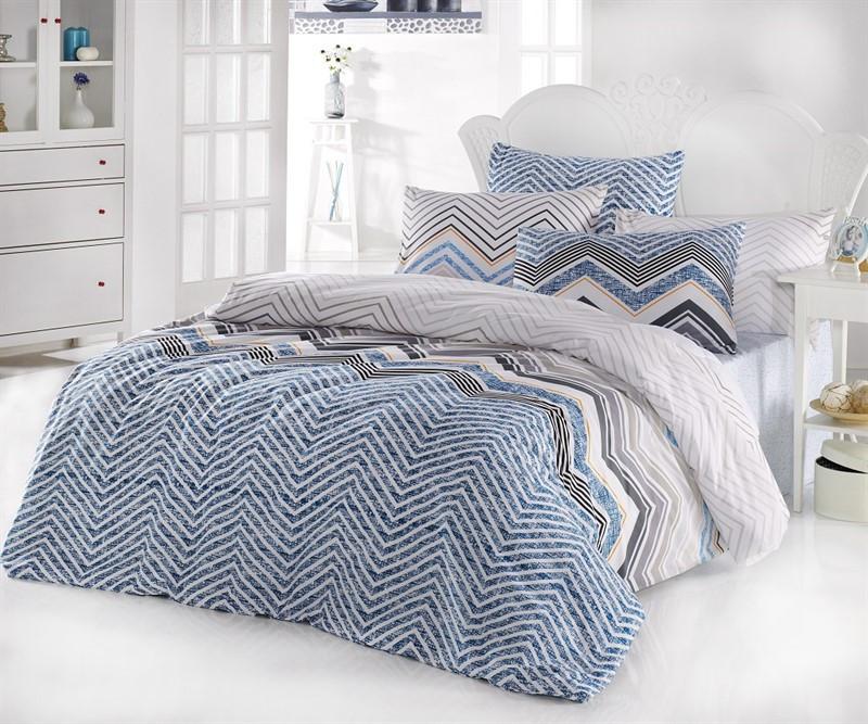 Двуспальный комплект постельного белья Бязь голд ZIGZAG 200*220 см. (9577_2.0LH)