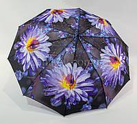 """Зонт женский полуавтомат с цветочным принтом на 10 спиц от фирмы """"Bellissimo"""""""