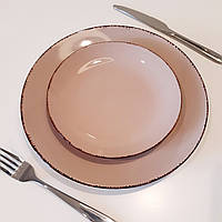 Тарелка мелкая обеденная Пудра 22 см